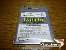 15 x DAIICHI 4640 #10 HEAVY JIG 60 DEGREE NYMPH FLY HOOK NEW FLY TYING MATERIALS