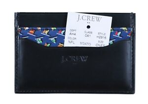 J.Crew Factory Men's Nautical Flags Tipped Fabric/Leather Card Case