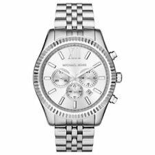 Michael Kors MK8405 Lexington Chronograph Men's Watch  Luminous Silver Tone Dial