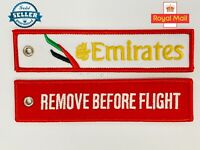 EMIRATES AIRLINES RED Remove Before Flight baggage tag keychain - Aviadirect®
