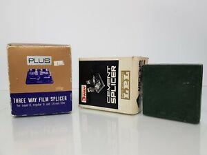 3 x Vintage 3-Way Film Splicers for Super 8, Standard 8 and 16mm Film Splicers