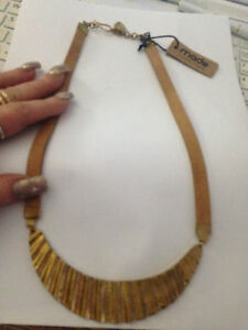 gold BRASS HAND Crafted Handmade in Kenya by MADE necklace John Lewis RRP £45