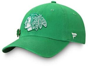 New Chicago Blackhawks Lucky Irish St Patricks Day Adjustable Hat golf dad B72