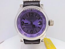 Invicta 53mm I-Force Purple Face 10512 Swiss Made Leather Strap Watch