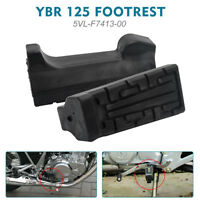 Pair OF 2 Black Front Foot Rest Peg Rubbers Footrest For Yamaha YBR 125
