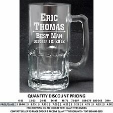 Personalized 20oz Glass Mugs Custom Engraved Groomsman Bridesmaid Wedding Gifts