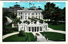 White House East entrance, Washington D.C. Postcard