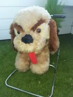Chien à bascule Heunec - Made in west germany - 1970 - Rocking dog - Fait main