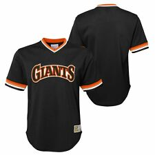 Mitchell & Ness NBA Youth San Francisco Giants Throwback Mesh V-Neck Jersey Top