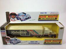 MARK MARTIN #6 VALVOLINE TEAM TRANSPORTER ROAD CHAMPS 1992 1:64 SCALE NIB (84)