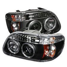 Ford 95-01 Explorer Black Dual Halo LED Projector Headlights w/ Signal Lamp