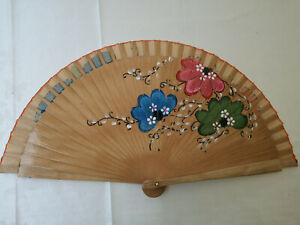 Spain Flamenco Handfächer Pocket Fan Folding Fan Wooden B Natural