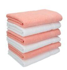 Lot de 6 serviettes Palermo couleur blanc et abricot, qualité 360 g/m², 6 servie