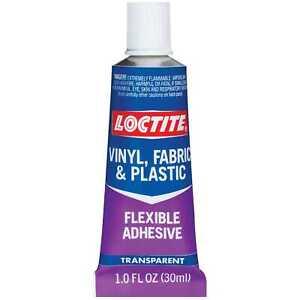 Loctite Vinyl Fabric & Plastic Flexible Repair Adhesive 1oz