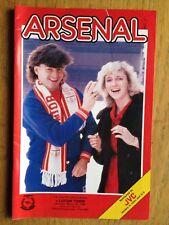 Arsenal v Luton Town 1985/86 FA Cup programme