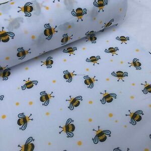 BUZZY BUMBLE BEE Fabric Polycotton Dress Quilting Masks Bees Patchwork Wholesale