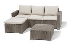 Allibert by Keter California Cappuccino 2 Seater Sofa Rattan Garden Furniture