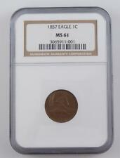 Certified NGC MS61 1857 Flying Eagle One Cent Coin Penny