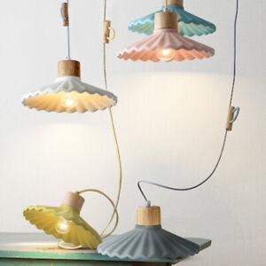 Nordic Macaron Pendant Light Scalloped Suspension Light Ceiling Hanging Lamp