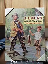 "LL Bean 18"" x 24"" Canvas Print Photo ""1933 Spring Catalog"" Cover Art Authentic"