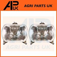 PAIR Massey Ferguson Lamborghini Tractor Headlights Headlamps Front Lights Lamps