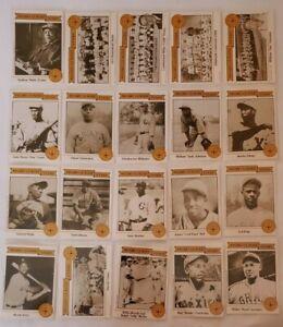 Rare Complete Baseball Card Set Negro League Stars 1988 Pittsburgh Satchel Paige