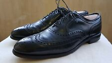Allen Edmonds Men's Wing Tip Oxfords Sz 11 C USA McAllister Lace Up Black