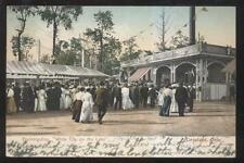 Postcard Cleveland Oh/Ohio White City Scenic Railroad Ride Area 1906
