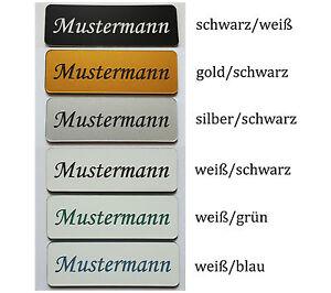 3er Set Briefkastenschild Klingelschild selbstklebend Türschild Namensschild Acr
