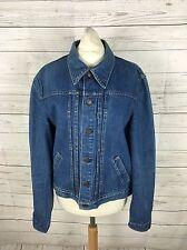 """Da Donna Levi Vintage """"BIG E"""" Giacca di Jeans-uk10/12 - ottime condizioni"""