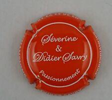 capsule champagne SAVRY didier et séverine n°22 orange et blanc tel 0626527318