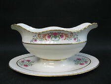Lenox Cinderella~Old Mark~ (1)~Gravy with Attached Plate~1st Quality~Perfect