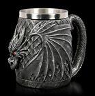Drachen Krug - Dragon Head - Fantasy Gothic Trinkbecher Kelch Tischdeko