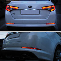 LED Rear Bumper 4Way Reflector 2p For 2011 2013 Kia Optima K5