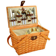 Frisco Traditional American Style Picnic Basket with Service for 2 - Santa Cruz