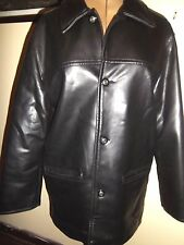 NEW COLLECTION PVC JACKET size S black thigh length 12 14 Italian faux leather