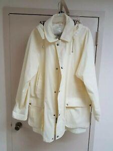 Burberry London Mens Full Zip Lightweight Rain Jacket Coat Nova Check Hood Sz L