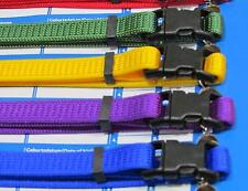 Whelping puppy collars dog soft collar ID bands 6-12 mix colours fabric whelp