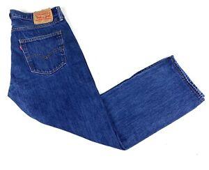 Vintage Levis 501 Red Tab Mens 34 X 30 Button Fly Blue Jeans Medium Wash Denim