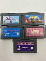 Lot Of 5 Nintendo GameBoy Advance Games Barbie Strawberry Shortcake Polly Pocket