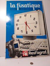 REST'AGRAPH - Pendule publicitaire.