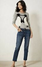 17. Anthropologie Sweater Size L Penguins* *Angora Blend* Very Nice