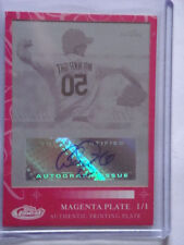 2007 Adam Wainwright Topps Finest Magenta Printing Plate Autograph #RFMA-AW #1/1