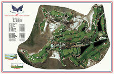 "SECESSION  - Vintage Golf Course Maps print (26"" x 15"")"