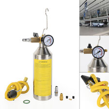 Flush Fuel Injector Cleaner Kit Canister Adapter Pressure Gauge Tools Yellow
