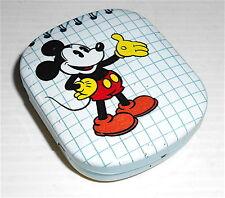 TOPOLINO 80s Walt Disney italy tin box with memo - scatola latta con notes matit