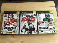 Xbox ESPN Major League Baseball 2K5, NCAA Football 2004, Madden 06 Complete