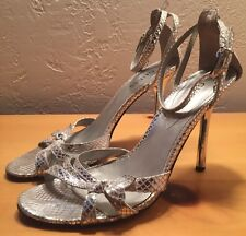 Guess Women's Silver Sparkle Strappy Heel Size 8M
