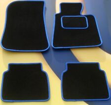 BMW 1 SERIES F20 2012 on TAILORED BLACK with BLUE EDGE CAR FLOOR MATS + 4 x PADS