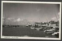 Postcard Yarmouth on Isle of Wight view with boats and car ferry RP by Paterson